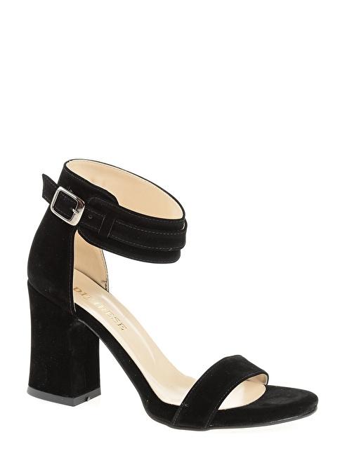 D by Divarese Kalın Topuklu Abiye Ayakkabı Siyah